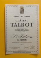 9558 - Château Talbot 1947 St-Julien - Bordeaux