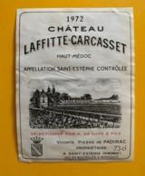 9560 - Château Laffitte-Carcasset  1972 St-Estèphe - Bordeaux