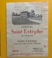 9562 - Château Saint Estèphe 1976 St-Estèphe - Bordeaux