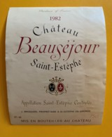 9564 - Château Beauséjour 1982 St-Estèphe - Bordeaux