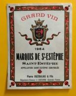 9566 - Marquis De St-Estèphe 1964 St-Estèphe - Bordeaux