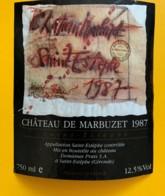 9568 -  Château De Marbuzet 1987 St-Estèphe - Bordeaux