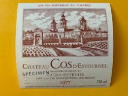 9570 -  Château Cos D'Estournel 1977 St-Estèphe Spécimen - Bordeaux