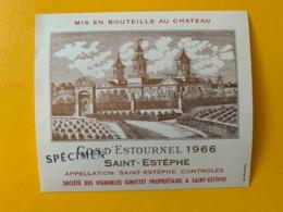 9572 -   Château Cos D'Estournel  1966 St-Estèphe Spécimen - Bordeaux