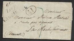1830 - LAC - Cursive 60 ISSY VAUGIRARD 40mm X 21mm (SEINE) - Poststempel (Briefe)