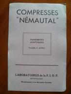 Buvard  COMPRESSES NEMAUTAL A MONTPELLIER - Buvards, Protège-cahiers Illustrés