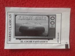 SOBRE DE AZÚCAR PACKET OF SUGAR SERIES CLÁSICAS DE TELEVISIÓN TV. SERIAL SERIE KNIGHT RIDER EL COCHE FANTÁSTICO VER FOTO - Sucres