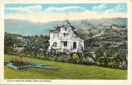 Pays Div -ref P430- Haiti - Villa A Peu De Chose , Port Au Prince - Carte Bon Etat  - - Haïti