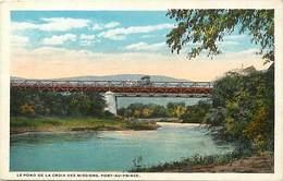 Pays Div -ref P429- Haiti - Le Pond Pont De La Croix Des Missions  ; Port Au Prince  - Carte Bon Etat  - - Haïti