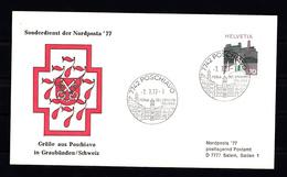 Zwitserland  1973 Mi Nr 1011, Met Stempel 7-7-77, Sonderdienst Der Nordposta '77 - Zwitserland