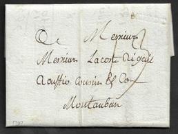 1787 - LAC - MENDE A Sèc 23mm X 5mm. A MONTAUBAN - 1701-1800: Précurseurs XVIII