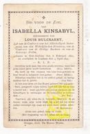 DP Isabella Kinsabyl ° St.-Andries Brugge 1821 † Loppem Zedelgem 1897 X Louis Bulckaert / Kinsabil Keysabil Keynsabil - Images Religieuses