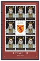 0811 Solomon Islands 2009 Kings&Queens Edward III MNH Sheet - Familias Reales