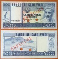 Cape Verde 500 Escudos 1977 UNC Specimen - Cape Verde