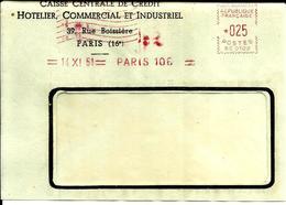 EMA SATAS SC 0102  Credit Hotelier  1961 Paris  A76/17 - Marcophilie (Lettres)