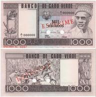 Cape Verde 1000 Escudos 1977 UNC Specimen - Cap Vert