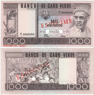 Cape Verde 1000 Escudos 1977 UNC Specimen - Cabo Verde