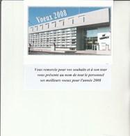 L3 - Carte De Voeux  2008  Police THIONVILLE - Announcements