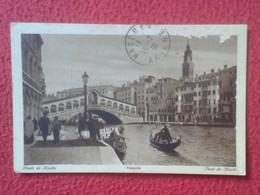POSTAL OLD POST CARD CARTE POSTALE ITALIA ITALY VENECIA VENEZIA WITH STAMP CON SELLO FERROVIA VER FOTOS. ANTIGUA VENISE - Venezia (Venice)