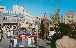 Pays Div -ref P419- Venezuela - Carnaval En Caracas - Plan Voiture Automobile , Elephant - - Venezuela