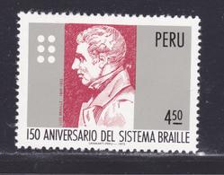 PEROU N°  616 ** MNH Neuf Sans Charnière, TB (D8170) Louis Braille - 1976 - Pérou