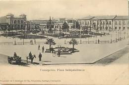 Pays Div -ref P417- Chili - Chile - Concepcion - Plaza Independencia  - Carte Bon Etat - - Chili