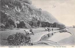 UK England - ISLE DE WIGHT - VENTOR : The Pond And Gardens - CPA - - Ventnor