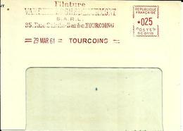 EMA SATAS SC 0115  Filature Textile 1961 Tourcoing  A76/20 - Marcophilie (Lettres)