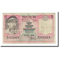 Billet, Népal, 5 Rupees, Undated (1974), KM:23a, TB - Népal