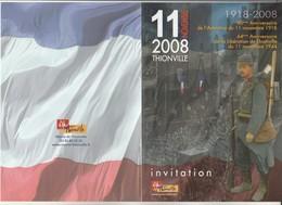 L3 - Invitation 11 Novembre 2008 à  THIONVILLE - Faire-part