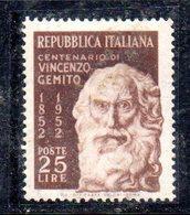 XP2668 - REPUBBLICA 1952 , 25 Lire N. 704  ***  Gemito . Filigrana Lettere - 6. 1946-.. Repubblica