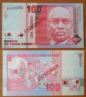 Cape Verde 100 Escudos 1989 UNC Specimen - Cabo Verde