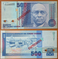 Cape Verde 500 Escudos 1989 UNC Specimen - Cape Verde