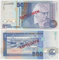 Cape Verde 500 Escudos 2002 UNC Specimen - Cape Verde