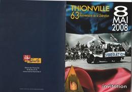 L3 - Invitation 8 MAI  2008 à  THIONVILLE -  Libération - Faire-part