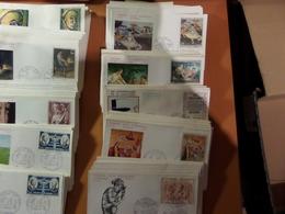 LOT  FDC  FRANCE 1970 - 1971  PAR MULTIPLES - Stamps