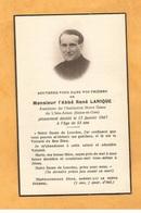 IMAGE PIEUSE GENEALOGIE FAIRE PART AVIS DECES CARTE MORTUAIRE ABBE AUMONIER ISLE ADAM LANIQUE 1894 1947 - Décès