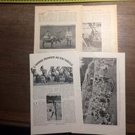 1909 DOCUMENT L HOMME PRIMITIF AU XX 20 ° SIECLE FIDJI DAHOMEY LAPON - Vieux Papiers