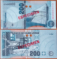 Cape Verde 200 Escudos 2005 UNC Specimen - Cape Verde