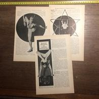 1909 DOCUMENT HOMME SERPENT ET FEMMES COULEUVRES MISS NADIEV MARINELLI BOYSTON - Vieux Papiers