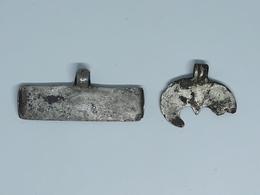 ANCIENT VIKING SILVER  AMULET PENDANT 8-10 Century - Archéologie