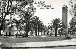 Pays Div -ref P409- Perou - Peru - Lima - Universidad San Marcos  - Carte Bon Etat - - Peru