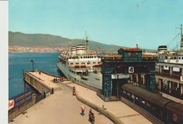 CP - PHOTO - MESSINA - CHARGEMENT DES TRAINS SUR LE NAVIRE BAC - IMBARCO DEI TRENI SULLA NAVE TRAGHETTO - L 30 - S. A. P - Messina