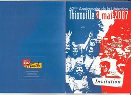 L3 - Invitation 8 MAI  2007 à  THIONVILLE -  Libération - Faire-part