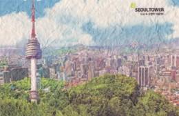 Seoul, Corée Du Sud, Circulée. - Corée Du Sud