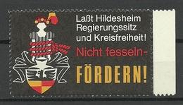 Germany Hildesheim Vignette Werbemarke Propaganda MNH - Vignetten (Erinnophilie)