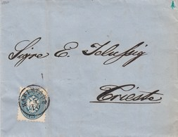 AUSTRIAZ36 - Lettera Del 1864 Da Karlstad A Trieste Con 10 Kr Azzurro - Ex Collezione Provera - - Briefe U. Dokumente