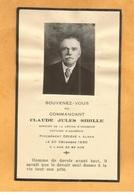 IMAGE PIEUSE GENEALOGIE FAIRE PART AVIS DECES CARTE MORTUAIRE SIBILLE JULES  COMMANDANT LEGION HONNEUR ALGER 1852 1935 - Décès