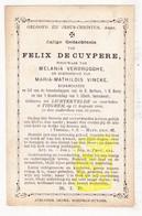 DP Kerkmeester Felix De Cuypere ° Lichtervelde 1836 † Tiegem Anzegem 1889 X M. Verbrugghe Xx M. Vincke - Images Religieuses