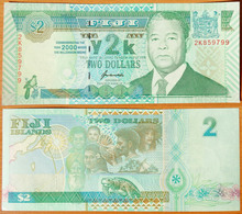 Fiji 2 Dollars 2000 UNC Commemorative P-102 - Fidji